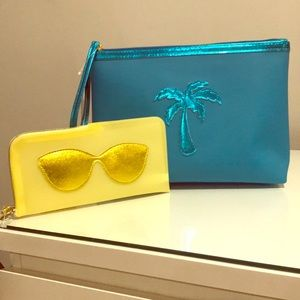 Makeup bag & sunglass case